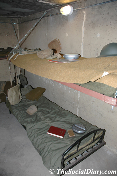The cots in the World War II bunker