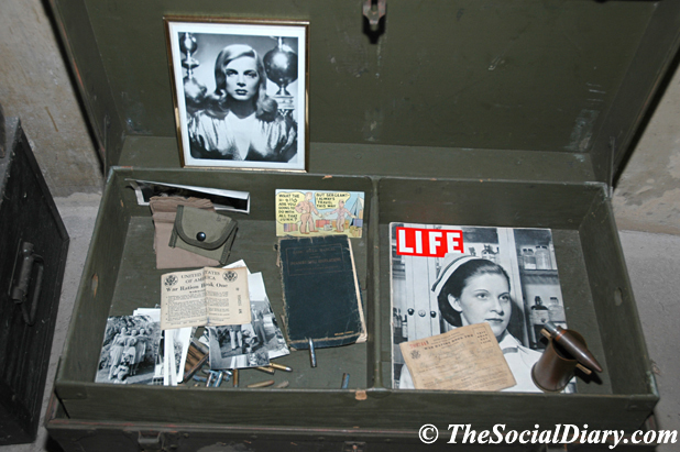 Magazines and photos in the World War II bunker