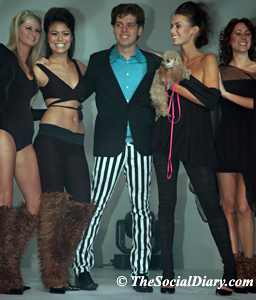 designer with models