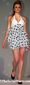 polka dot frilly dress