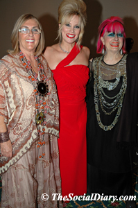 vicky lavanty with Margo Schwab and Zandra Rhodes