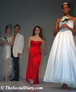 designer jemima garcia with her bridal models