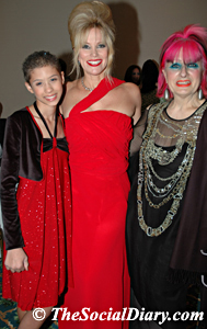 alyssa monk with celebrity margo schwab and zandra rhodes