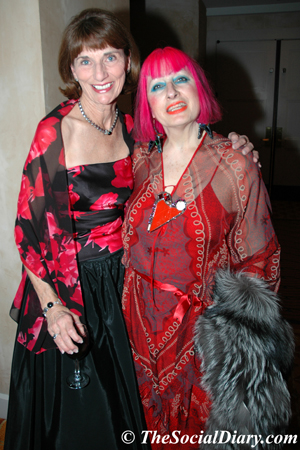 lori demaria and zandra rhodes